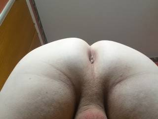 My Freshly Waxed Silky Smooth Ass And Balls :P xx