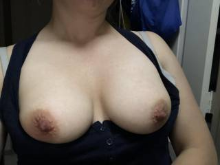 Had people over to my house and snuck away to send this photo to my husband who was out of town. Anyone want to suck on these?