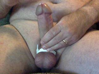 Tied my balls up to jerk off.