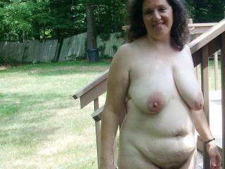 Wow, you are a very sexy lady... and oddly enough I to love being naked outdoors and fuck in the outdoors,,,