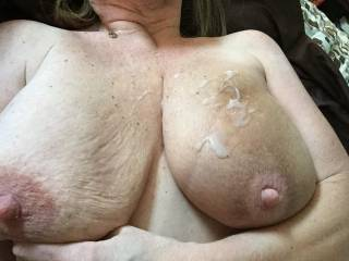 Oh yes it is and I got four more loads for you big sexy tits just like that mmmmmm Dam those are some big tits mmmmmmmmm
