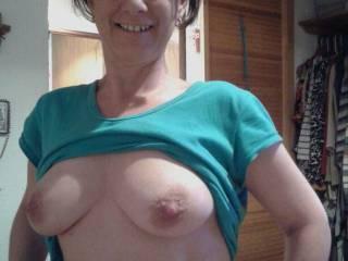 Wifey flashing boobs