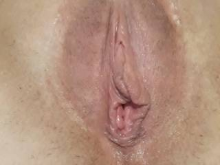 After just a little pumping!  She said it was so sensitive down there!