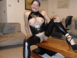 Hi all this outfit is really skin tight shows off all the right curves dirty comments always welcome mature couple