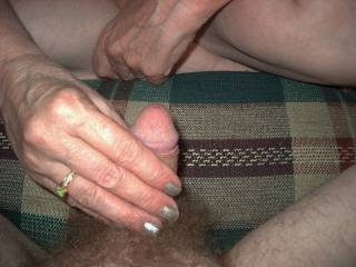 Eve getting my cock ready top enjoy her pleasure hole....anyone else??