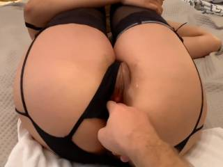 Finger fucking my creampie\'d pussy... would you like to also??