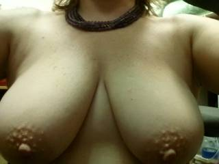 I'd love to kiss, suck and nibble on those nipples and then explore the rest of that hot body.