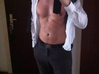 Holy hot as fuck!!  Wow...I think I would rip your shirt off and pull your pants down and fuck you where you stand.  Thank you so much for sharing!