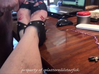 So many times I've cum to this vid, so wish it was my stiff dick unloading over those pretty feet and spraying my hot spunk all over those painted toes and rubbing my cock between her soles
