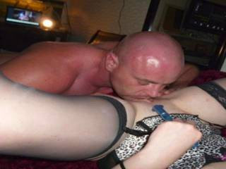 Licking rubbing and fucking my wife