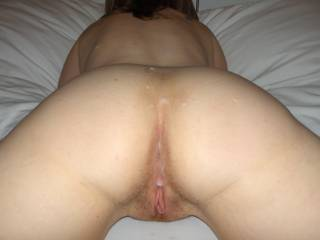 wow  nice shot,would love shooting a hot thick load on that nice ass myself