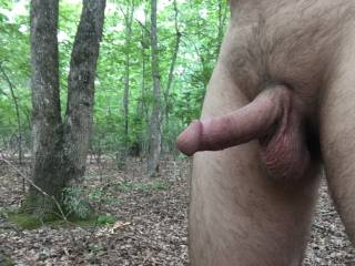 Playing in the woods naked today!