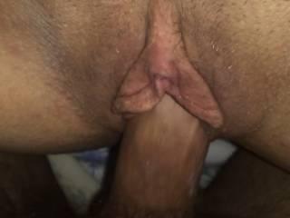 Tight, wet, pussy felt so good .. made me cum deep inside her.