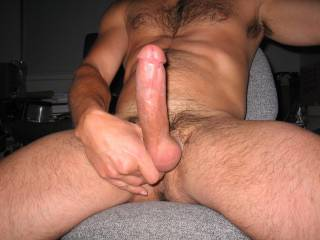 man, your body and huge cock are awesome, you ever get to play with the boys??