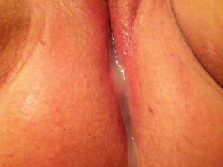 What's better? Her sweet pussy filled with my cum.