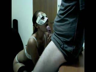 a bj in the office after we got horny from some cam chat...part 1.