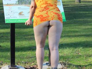 This time we were at a public park/fishing hole. I didn\'t tell her but she was being watched