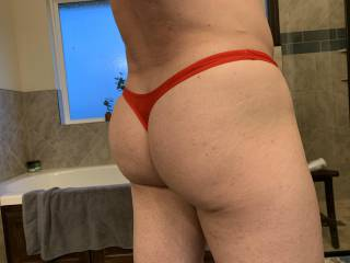 New RED thong