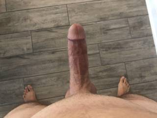 New pic of cock.  Haven't posted in a while.  Anyone wanna suck it?
