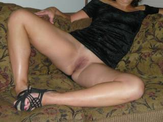 Love those shoes..they show your sexy feet and toes!! Very Nice!