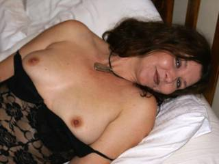 Sexy milf in black number
