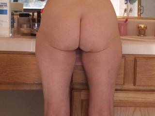 You have such a gorgeous bum!! Yes, I would love to bend you over and slip my erect shaft in the gap between your ass cheeks. I would slowly slide all the length of my hard throbbing cock up and down between your gorgeous ass cheeks, all this while having my hand between your legs to feel your sweet pussy getting wet.