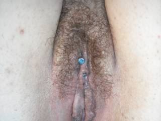 Mmmmmm I thought I saw a piercing and I did I did.. Hehe that's hot and love the hairy look..