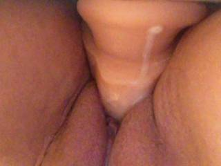 dripping wet after riding my toy
