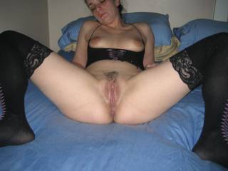 her pussy makes my mouth water and my long hard cock throb and drool with lusty precum