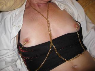 Hubby said I looked good with my small hard nipples.What do you think?