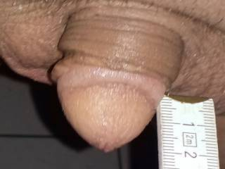 Measuring my tiny dick
