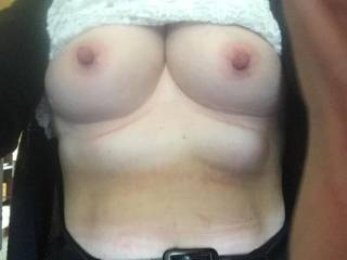 My wife's perfect tits.