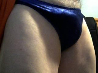 run your hand across these velvet panties, feel so good