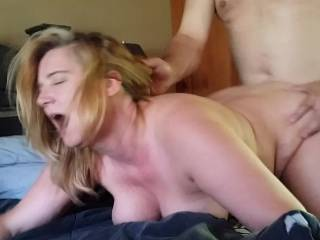 Slut debbie taking it hard....
