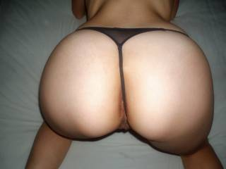 I was on my hands and knees, spreading my legs and lifting my ass into the air, feeling him horny behind me, waiting to be pounded deep and hard... Fucking me doggy style would give him the greatest view of my round butt... Do you like it???