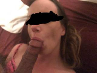 Just a friend who gave me permission to show a few fun pics and video clips.  Sorry I had to blur a little for privacy.  She was a huge slut.  But she sucked dick good and could ride it for a while.