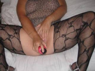 you are so beautiful! Love that hairy pussy and those dynamite stocking covered legs!