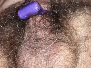 My hairy balls...full of cum!