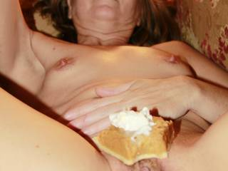 Thanksgiving is CUMMING up soon, gotta get those pumpkin pies ordered. My hubby likes to lick the whipped cream off first, then nibble on my pie. Who wants pie with whipped cream on it? CUM and get it.