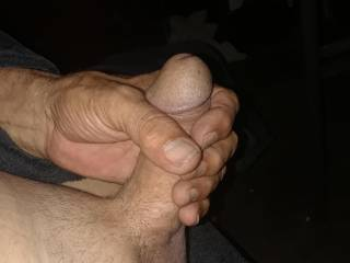 Feels so good holding my dick to start jacking off.