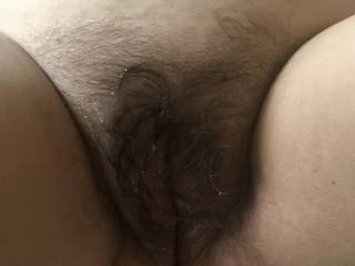 I rubbed the cum in so it hard to see