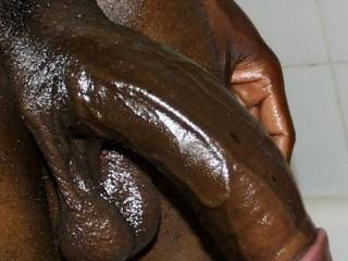 How about allowing me to Oil your BLACK Cock.. I assure you I will make it HARD and then I will take it into my Mouth and Slowly SUCK on it and make you CUM... Then to show you how much I enjoyed giving you Oral SEX, I will Gladly SWALLOW all of your warm SEED... YUMMY...  Love and Kisses, Maryann