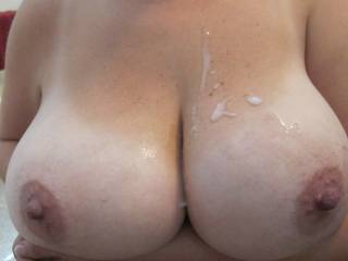 Mmmmmmmmmmmmmmmmmmmmmmmmmmmmmmm.... Sooooo juicy you very naughty lil girl..;) Would love to help you out with a huggge load of hott cum from my big harrd cock i have been saving up for those bountiful beautiful breasts..;)