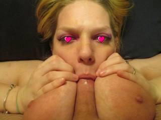 gotta love a stacked cock sucking slut