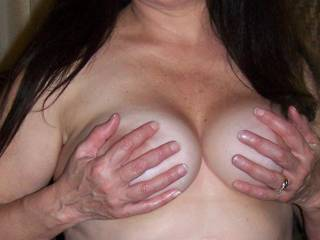 Mmmm nice tits can I get a hand or mouthful of them?