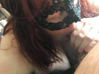 Taking as much of a gorgeous cock as I can get in my mouth