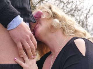 Lustful wife sucking stranger cock! - What do u say???