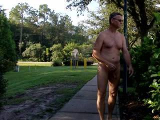 Having some nude fun around the hotel one night!