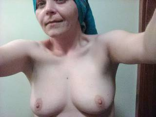 My tits just washed and ready for cum