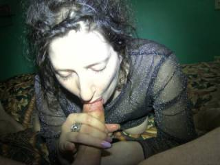 Penny swallows the big load of cum I feed her